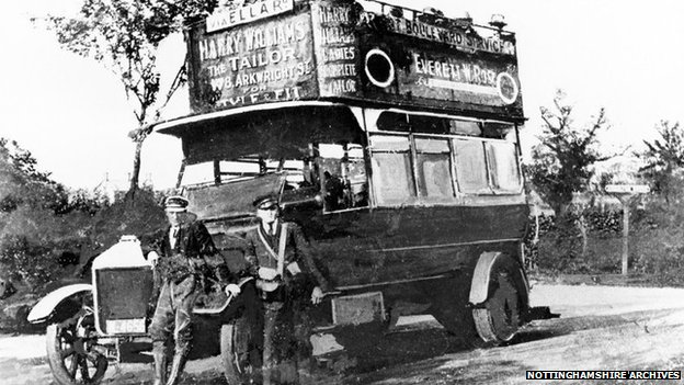 An early West Bridgford motorbus from 1914