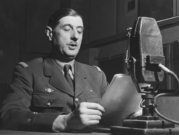 Charles de Gaulle broadcasting on the BBC, 1941