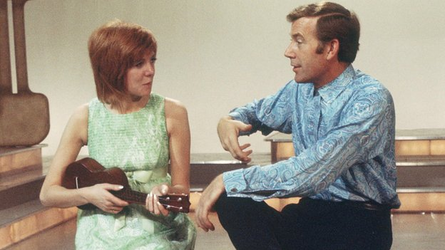 Cilla Black in 1969, with Val Doonican