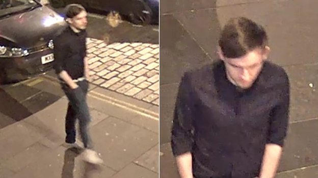 CCTV images of man police want to trace