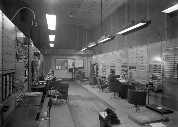 BBC Bush House control room, 1943