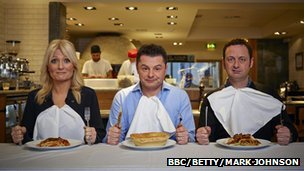 Presenters Gaby Roslin, Chris Hollins and Matt Allwright