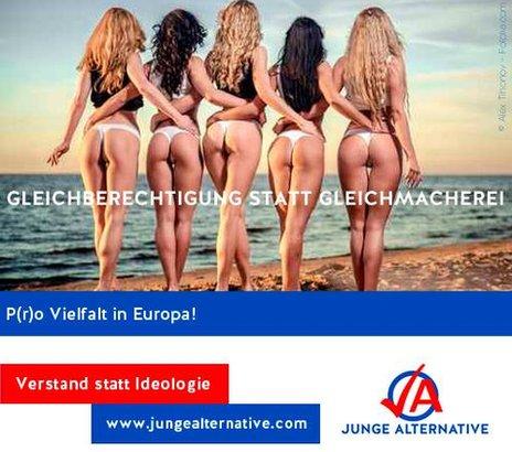 Junge Alternative election poster