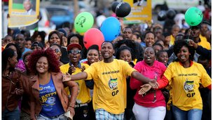 South Africans celebrate Nelson Mandela's 95th birthday July 2013