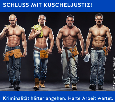 Junge Alternative poster showing four half-naked men
