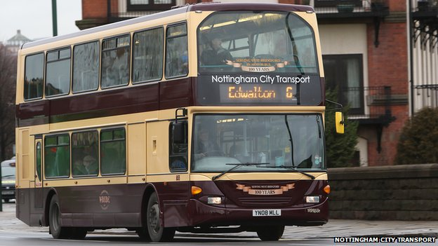 NCT's West Bridgford 100 branded bus