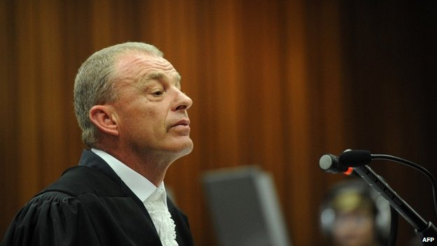 Prosecutor Gerrie Nel speaks at the high court in Pretoria - 8 May 2014
