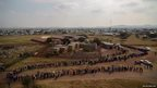 Voters queue at the Rakgatla High School voting station in Marikana