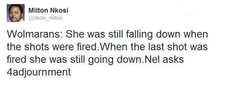 Milton Nkosi tweet