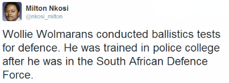 Tweet by the BBC's Milton Nkosi