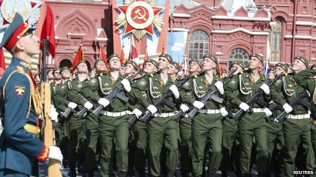 Parade on Red Square, 9 May