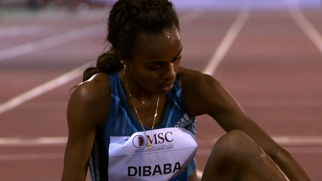 Diamond League Genzebe Dibaba well beaten in Doha