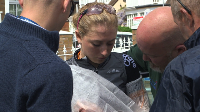 Tour of Britain: Concerns over Laura Trott after heavy crash