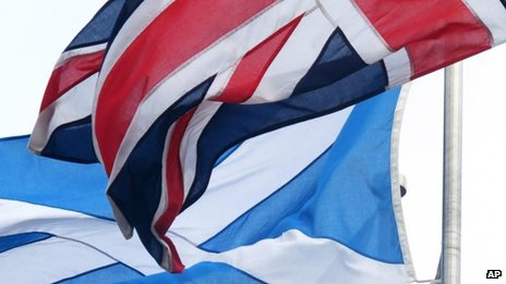 The saltire and the Union Jack