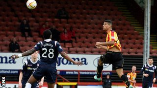 Lyle Taylor heads home as Thistle reduce the deficit