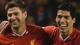 Liverpool midfielder Steven Gerrard and striker Luis Suarez