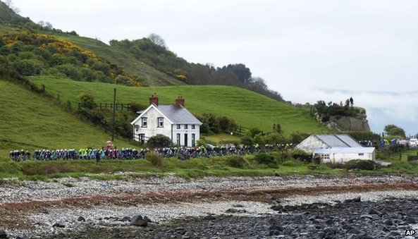 Peloton on north coast