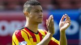 Lyle Taylor playing for Partick Thistle