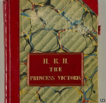 Cover of Princess Victoria's first journal