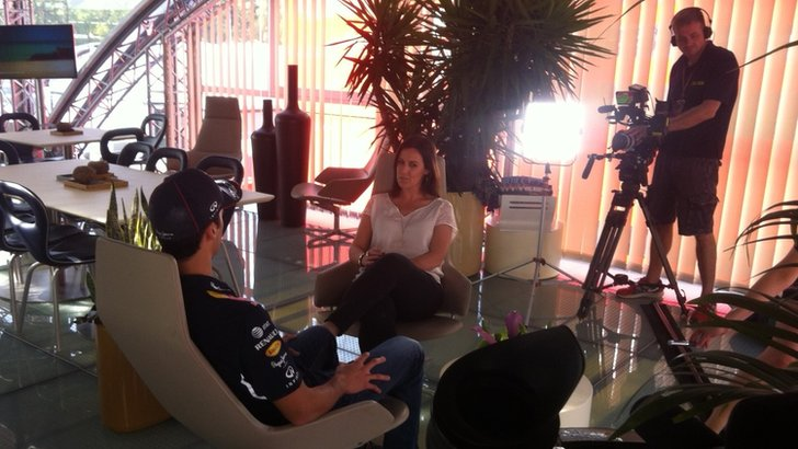 Daniel Ricciardo and Lee McKenzie