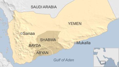 Map showing Mukalla