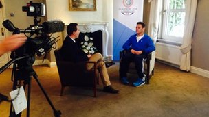 Tom Daley talks to BBC Channel Islands