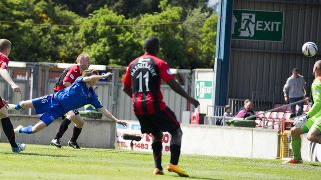 Ryan Christie scores for Inverness against St Johnstone