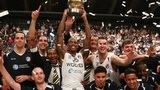 Worcester Wolves celebrate victory