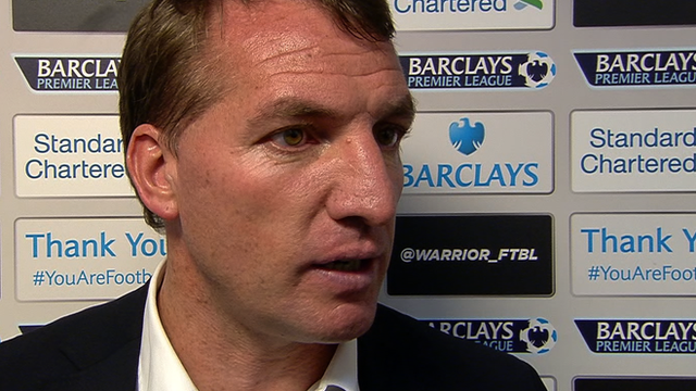 Rodgers congratulates Man City
