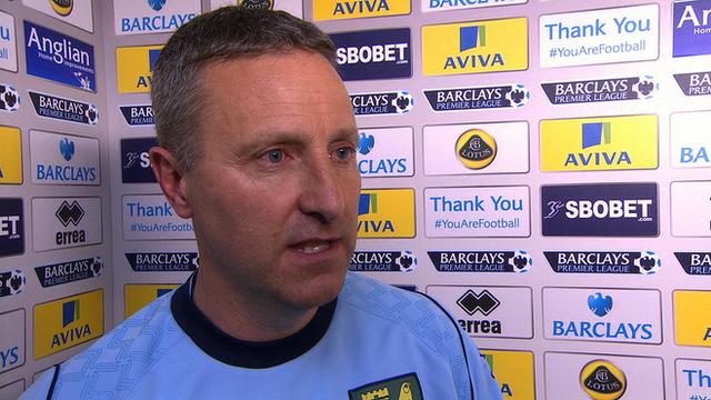 Norwich manager Neil Adams