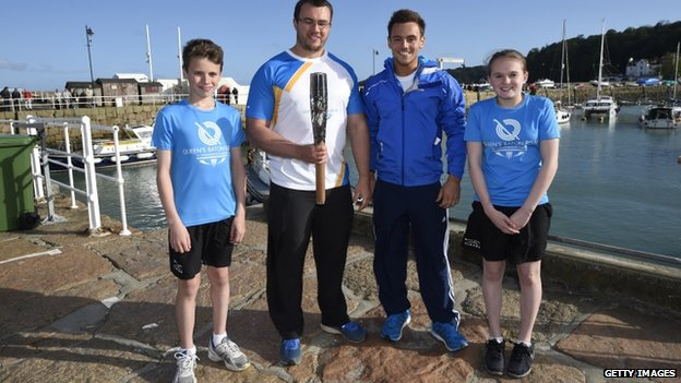 (L-r) Robbie Jones, Zane Duquemin, Tom Daley and Fancesca Stubbings