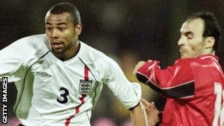 Ashley Cole on England debut