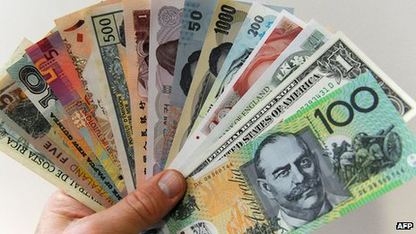 The Australian dollar and other foreign currencies