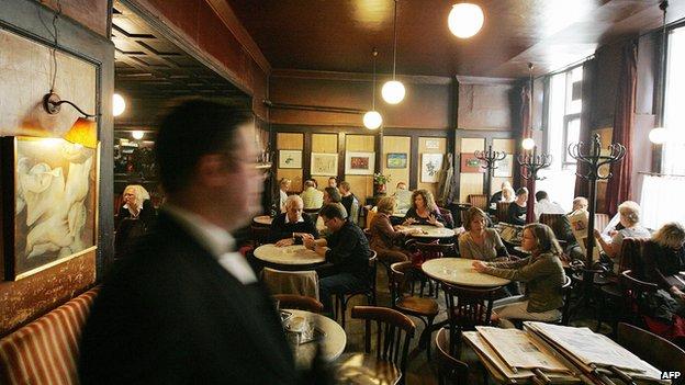 Cafe Hawelka, Vienna - file pic