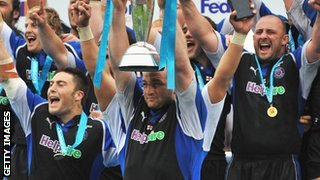Bath winning the Challenge Cup in 2008