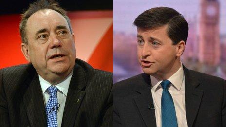 Alex Salmond and Douglas Alexander