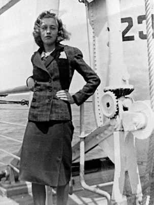 Gisela Feldman on board the St Louis