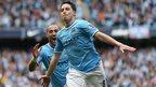 Samir Nasri celebrates after scoring goal