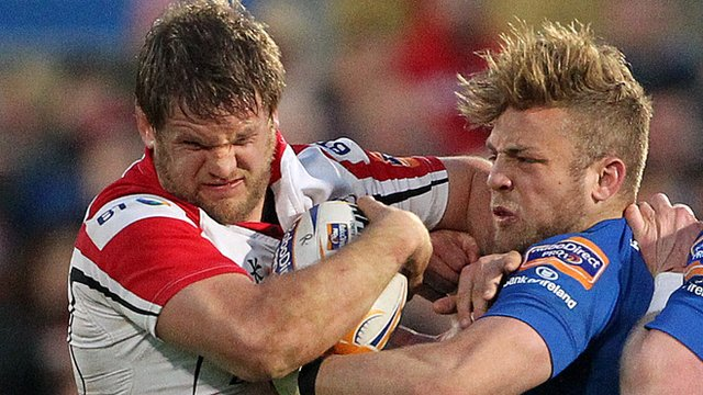 Match action from Ulster against Leinster