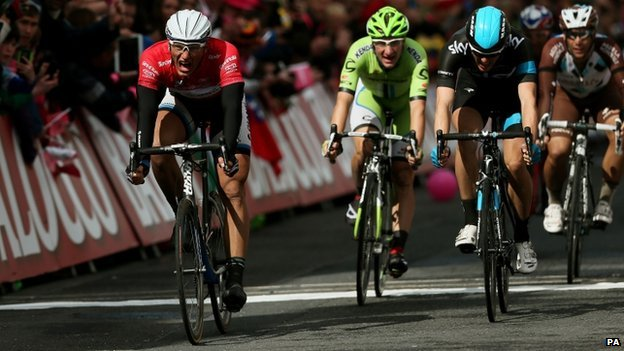 Marcel Kittel wins the 3rd state of the Giro d'Italia