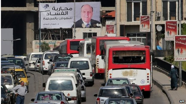 Campaign advertisement for candidate Hassan Abdullah al-Nouri in Damascus (11/05/14)