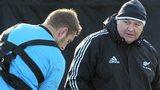 New Zealand coach Steve Hansen takes training