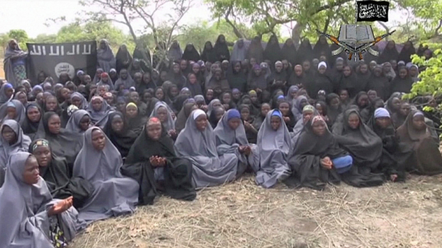 A group of girls, claimed to be the missing school girls
