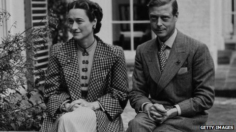 The future Edward Vlll and Wallis Simpson