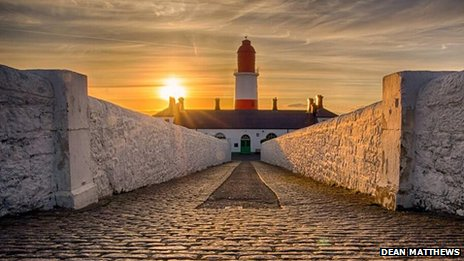 Sunrise over Souter Lighthouse