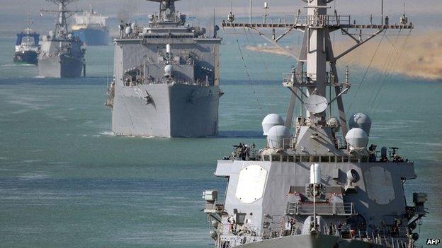 US Navy warships