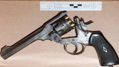 A Webley revolver