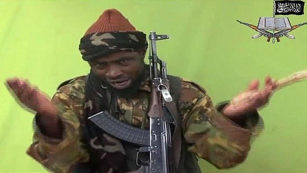A screen grab taken on 12 May 2014 from a video released by Nigerian Islamist extremist group Boko Haram shows its leader Abubakar Shekau