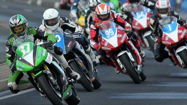 Action from the NW200