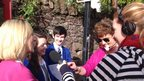 BBC Radio Ulster's Anne Marie McAleese interviews the School Reporters and their teacher